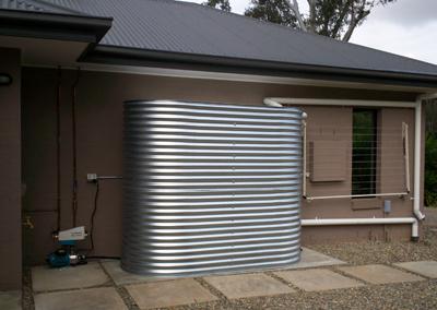 Brisbane Slimline Colorbond Steel Rainwater Tank