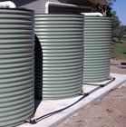 Water Tanks on a Concrete Base
