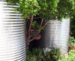 Installed Stainless Steel Round Rain Water Tanks Brisbane