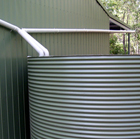 Water Tank Connected to Gutters