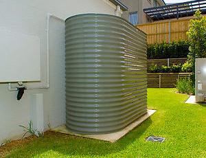 Colorbond Slimline Rainwater Tank